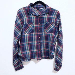 BDG | lightweight plaid long sleeve shirt
